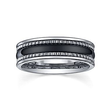 Tungsten Wedding Band Mens 7mm Jcpenney Men S Shoes Belts