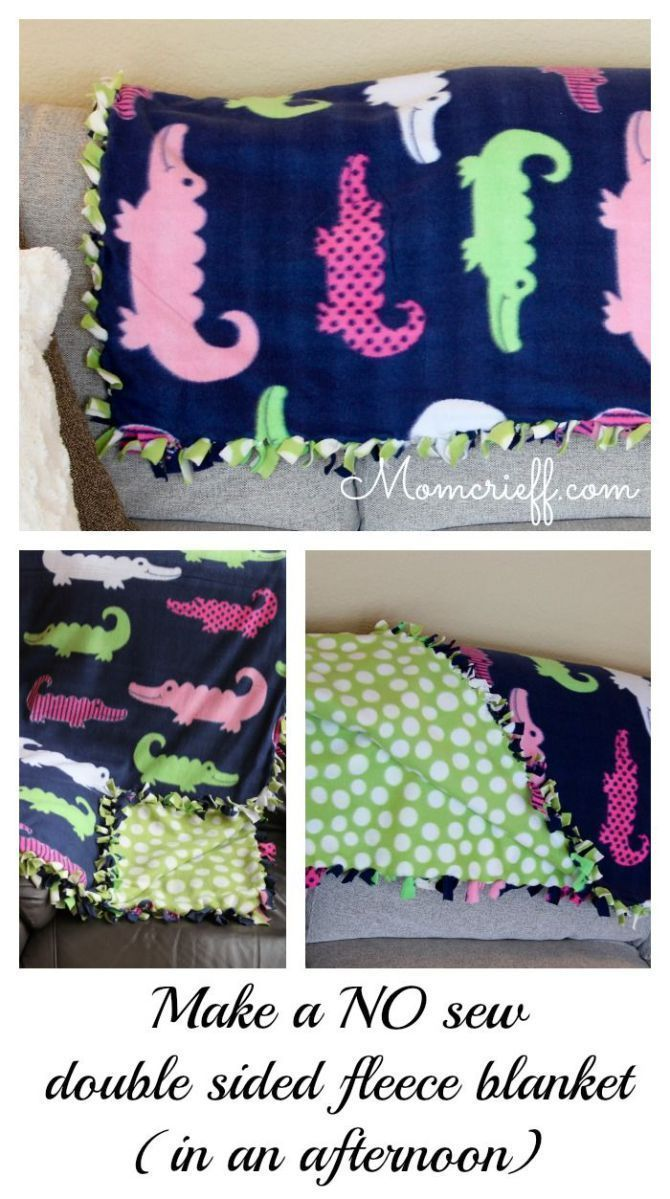 No sew double sided fleece blanket blanket craft and crafty