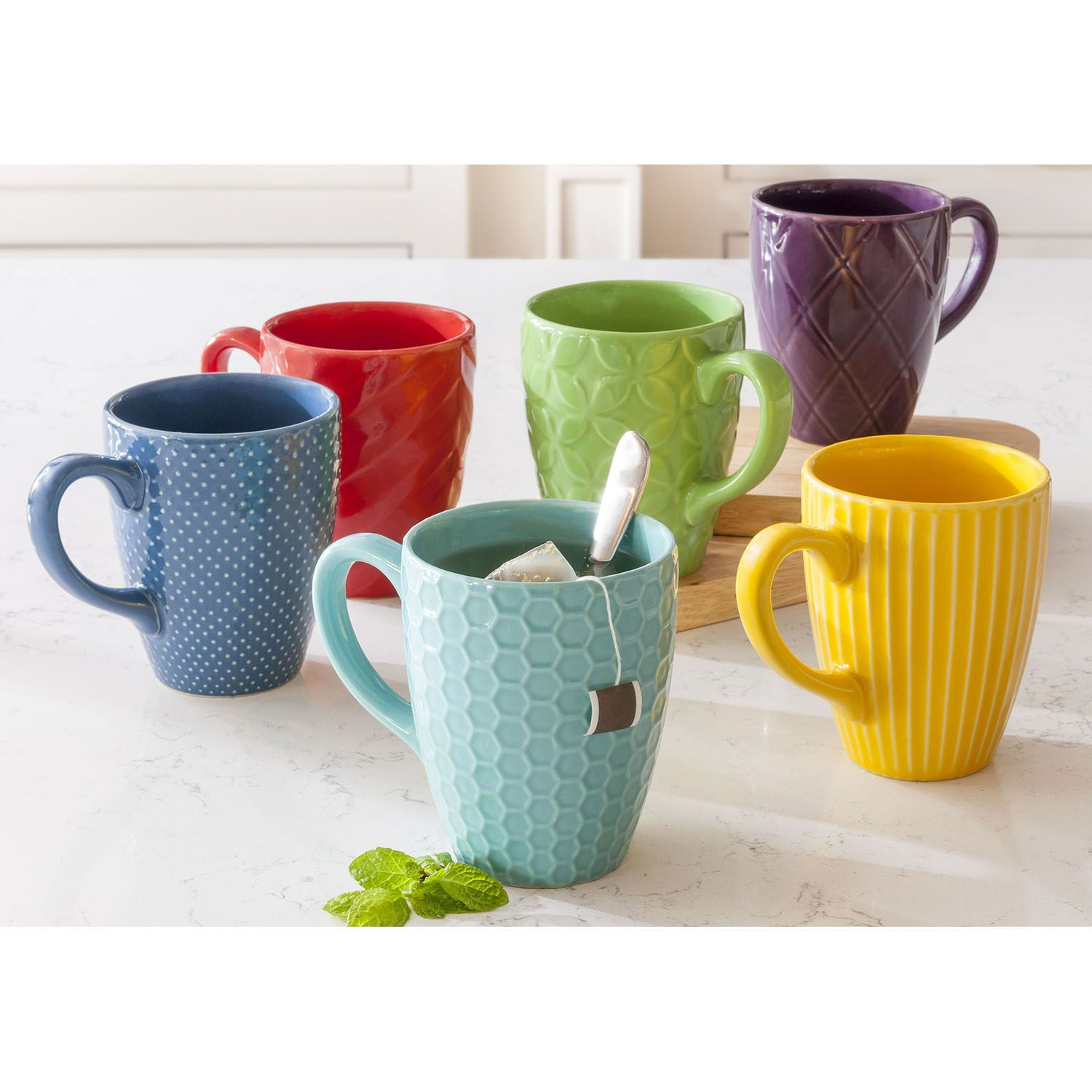 Daily Chef Textured Mug Set 6 Pack Sam S Club