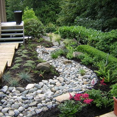 dry creek bed japanese garden bridge design ideas pictures remodel and decor - Japanese Garden Bridge Design