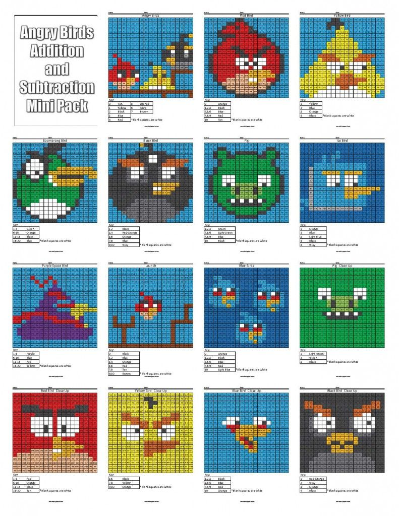 Angry Birds Addition and Subtraction | Pinterest | Angry birds ...