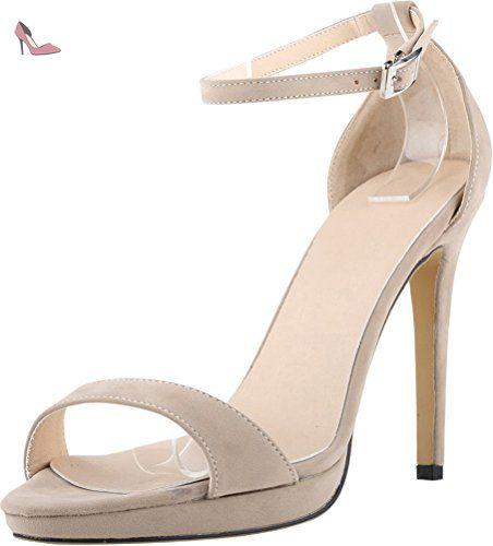 CFP , Peep-Toe femme - beige - nude, - Chaussures cfp (*