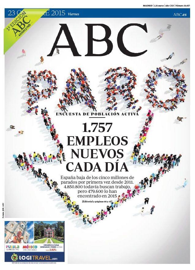 La portada de ABC del viernes 23 de octubre