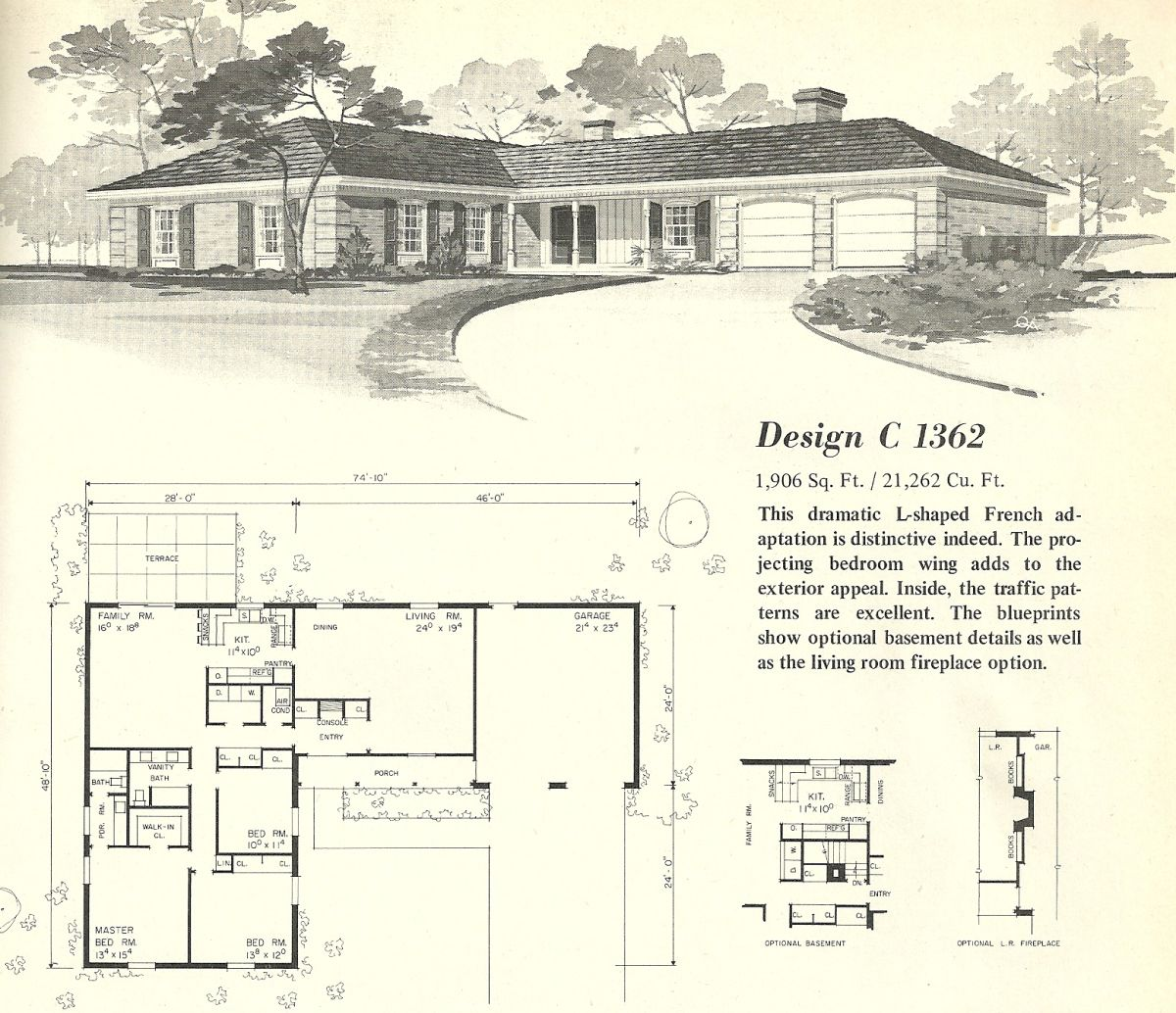 Vintage house plans 1960s homes mid century homes for 1960 ranch house plans