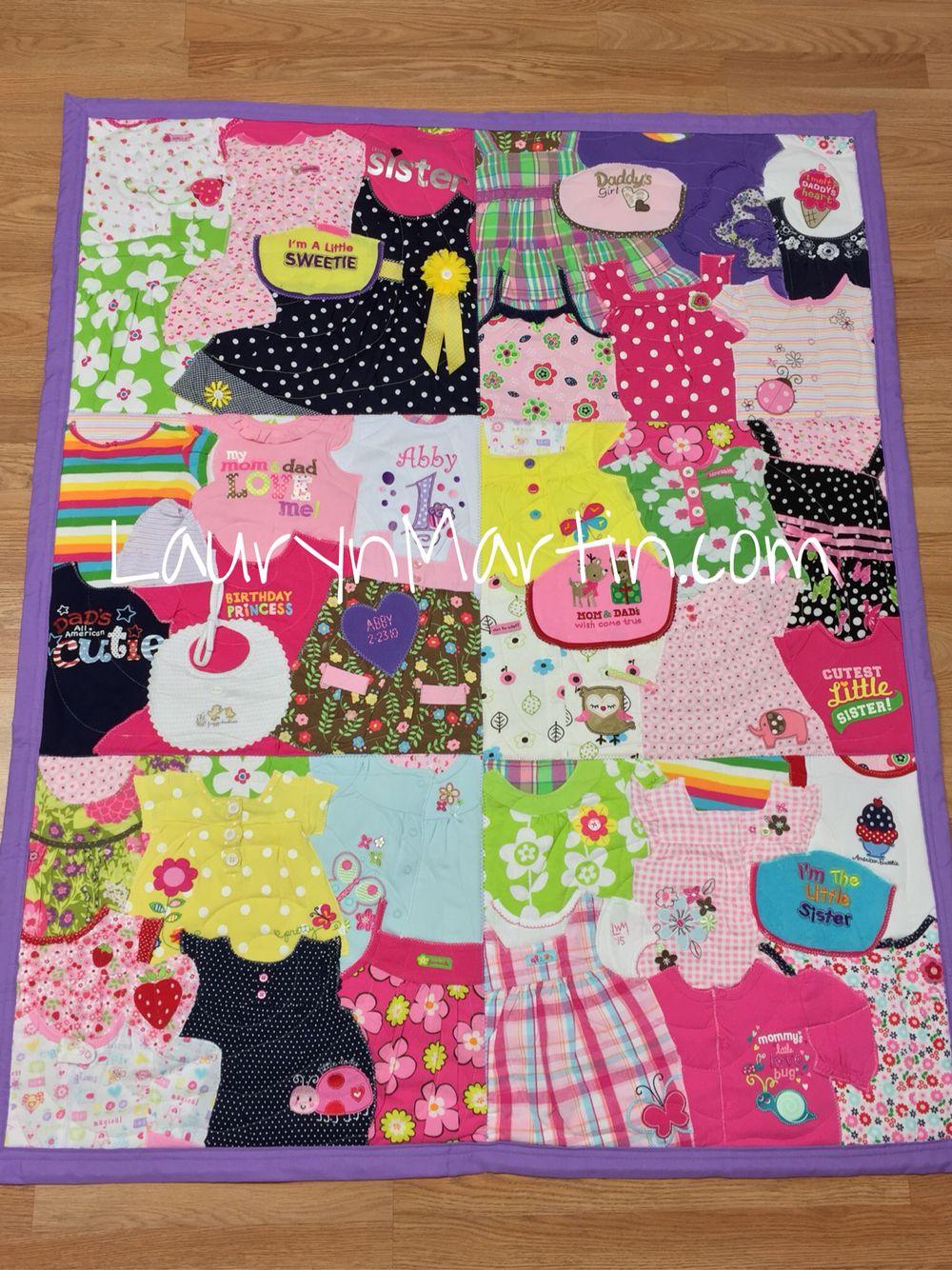 Custom memory quilt baby clothes quilt patchwork u quilting