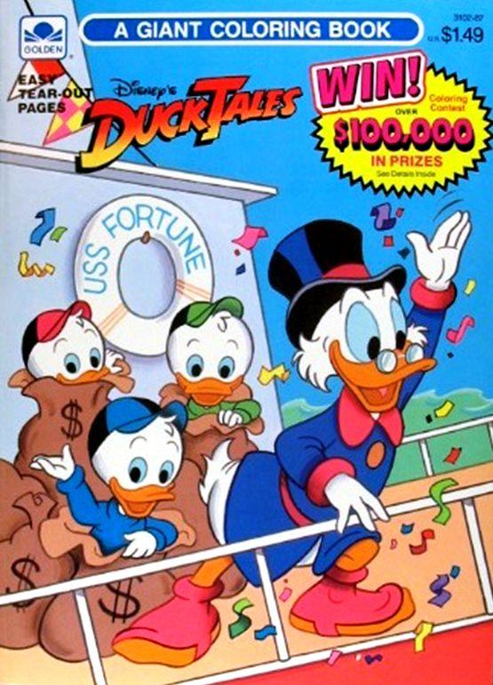 DuckTales Giant Coloring Book | LOVE DUCKTALES | Pinterest ...