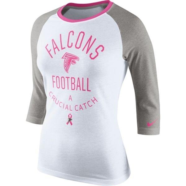 wholesale dealer 34a8d 97db9 Atlanta Falcons Nike Women's Breast Cancer Awareness Tri ...
