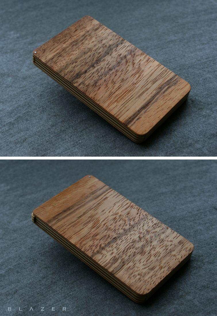 Business card holder, business card case, wood business cardholder ...