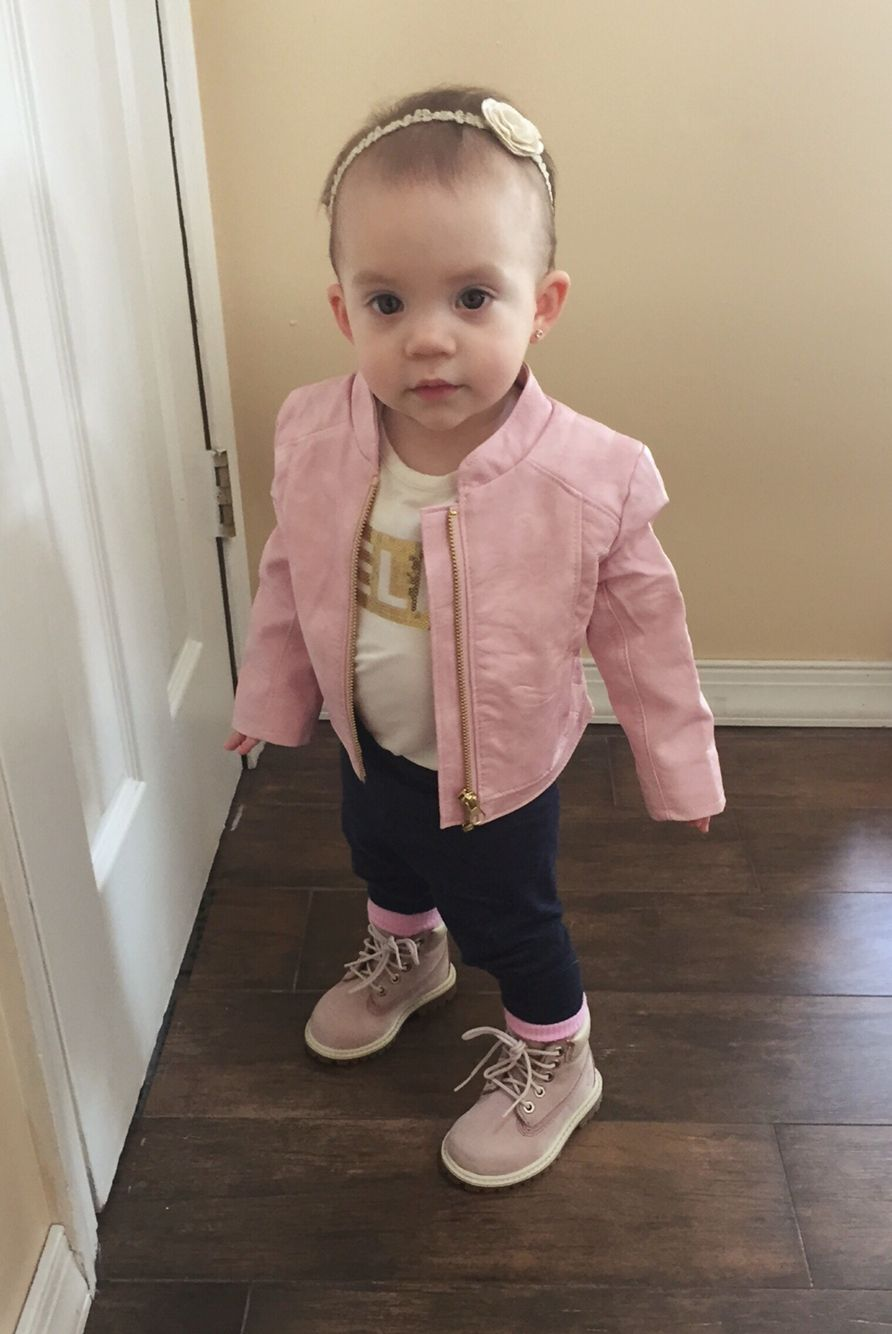 Baby girl fashion, Pink timberland