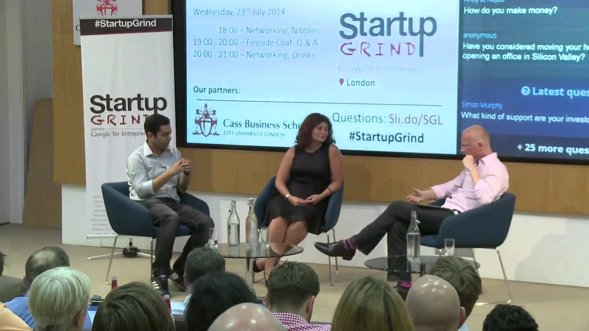 Pankaj Chaddah and Kimberly Hurd (Zomato) at Startup Grind London ...