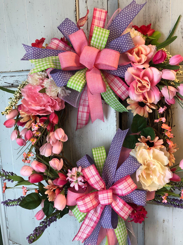 door hanger, spring wreath, spring decoration, https