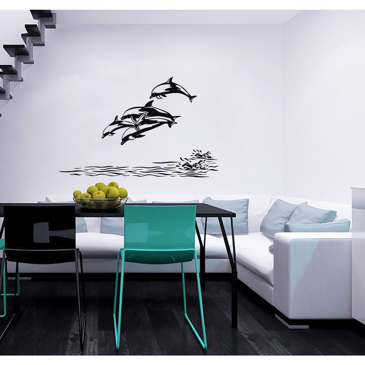 Dolphins Vinyl Sticker Wall Art Products Pinterest Dolphins - Vinyl decals for textured walls