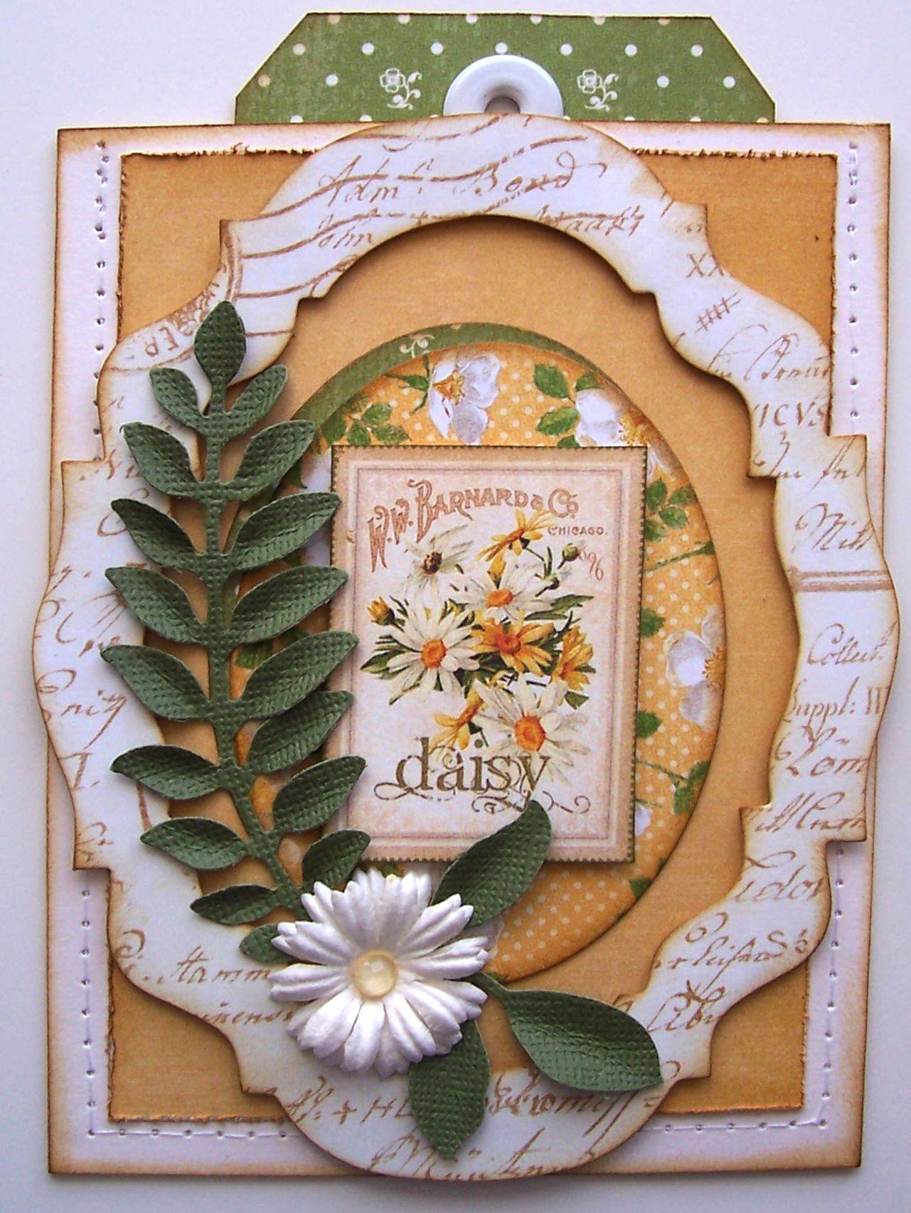 Secret Garden Thank You Pocket Card w/tag - Scrapbook.com | Card ...