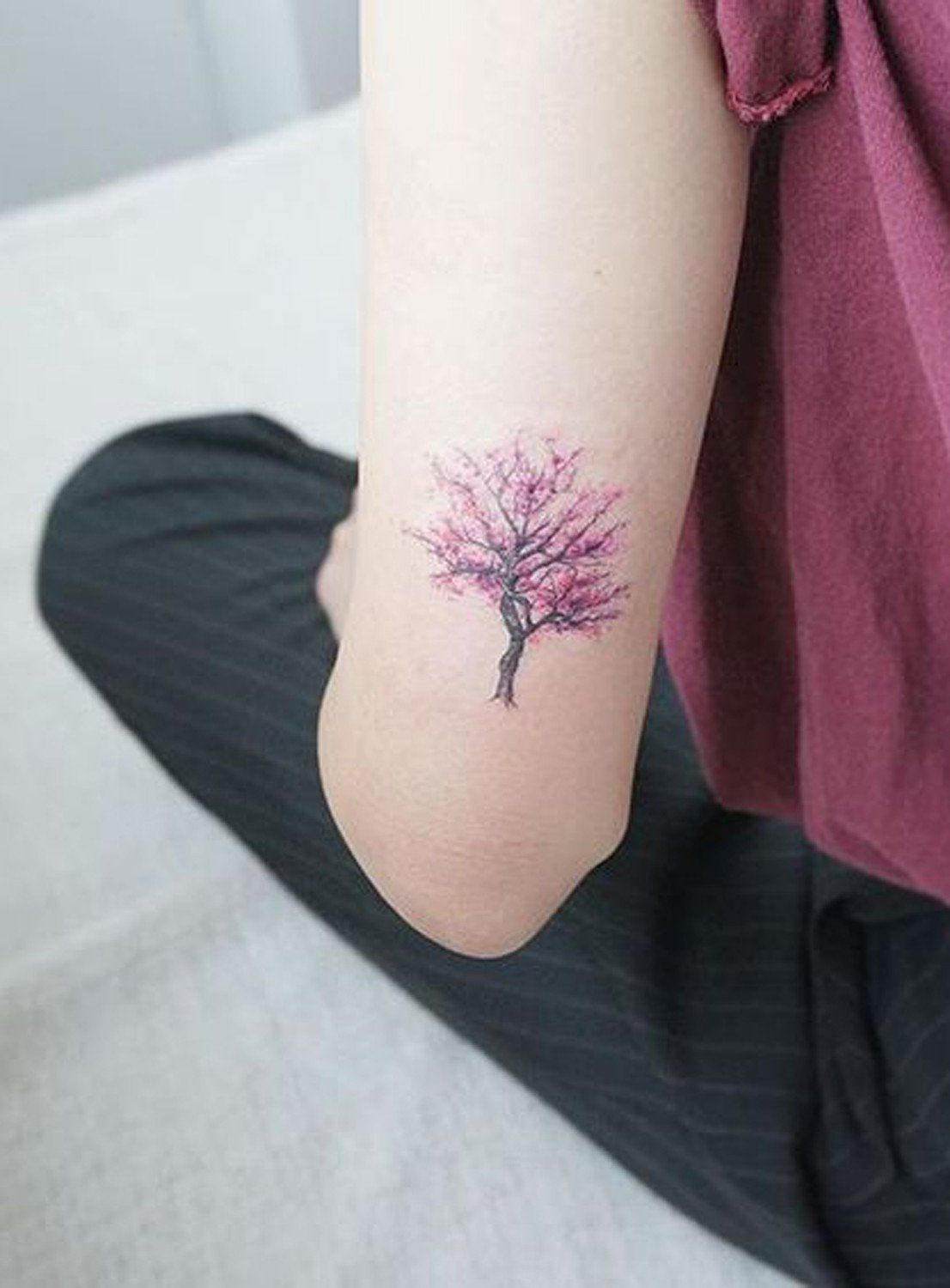 Back Of Arm Cherry Blossom Tree Tattoo Ideas At Mybodiart Com