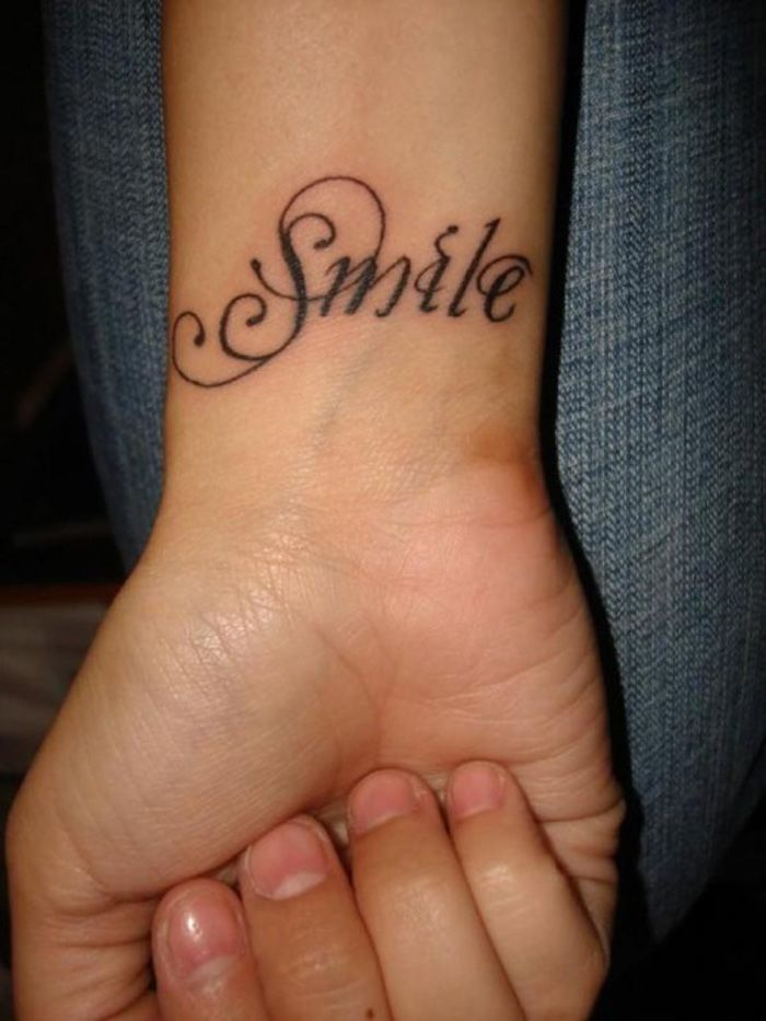 Simple Word Tattoo Designs For Women