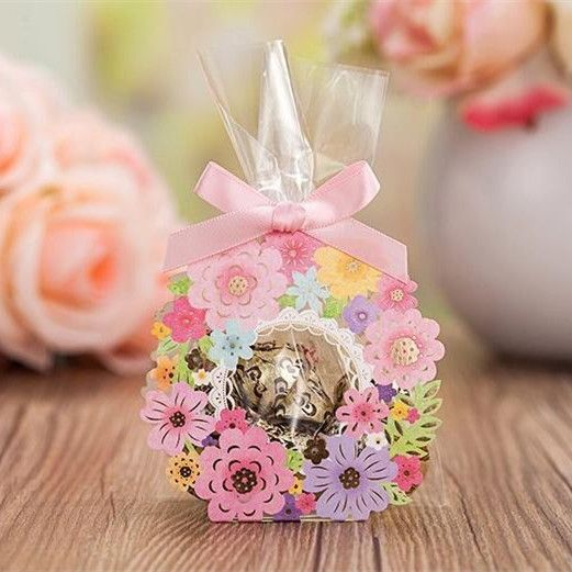 colorful spring wedding favor box for guests EWFB121