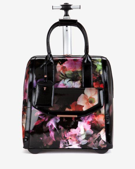 20840c580 Cascading floral travel bag – Black foral Bag