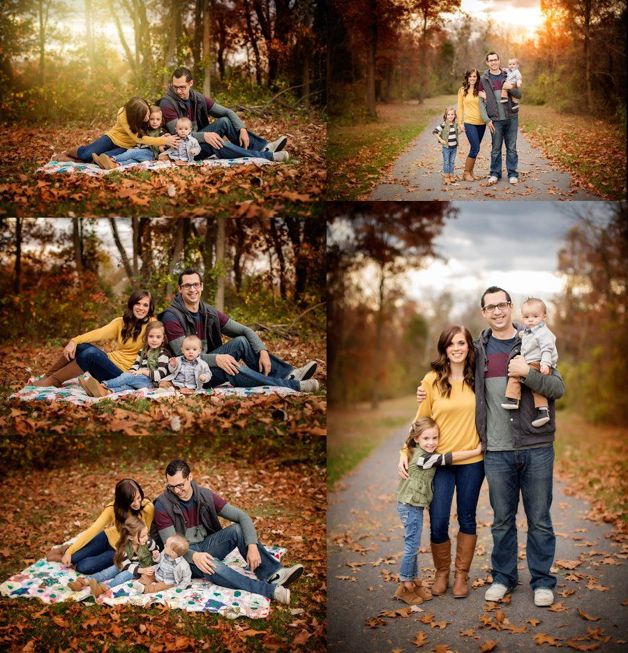 Northern Virginia Family Photography Stephens City VA Photographer Of Four Poses Outdoor Fall Portraits Kensiem