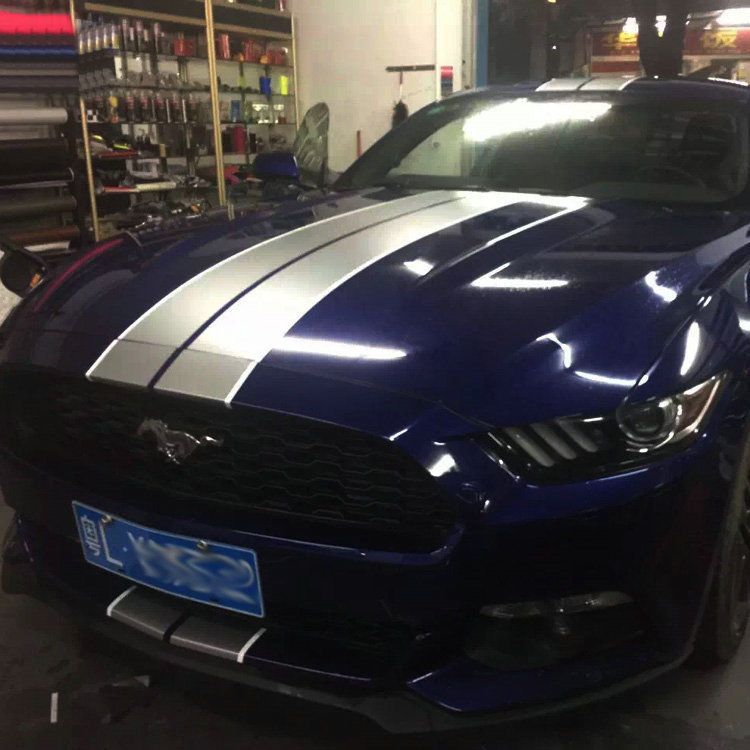 Graphic Racing Stripe Car Sticker Decal Hood Roof Rear For Ford Mustang Focus Racing Stripes Blue Mustang Mustang
