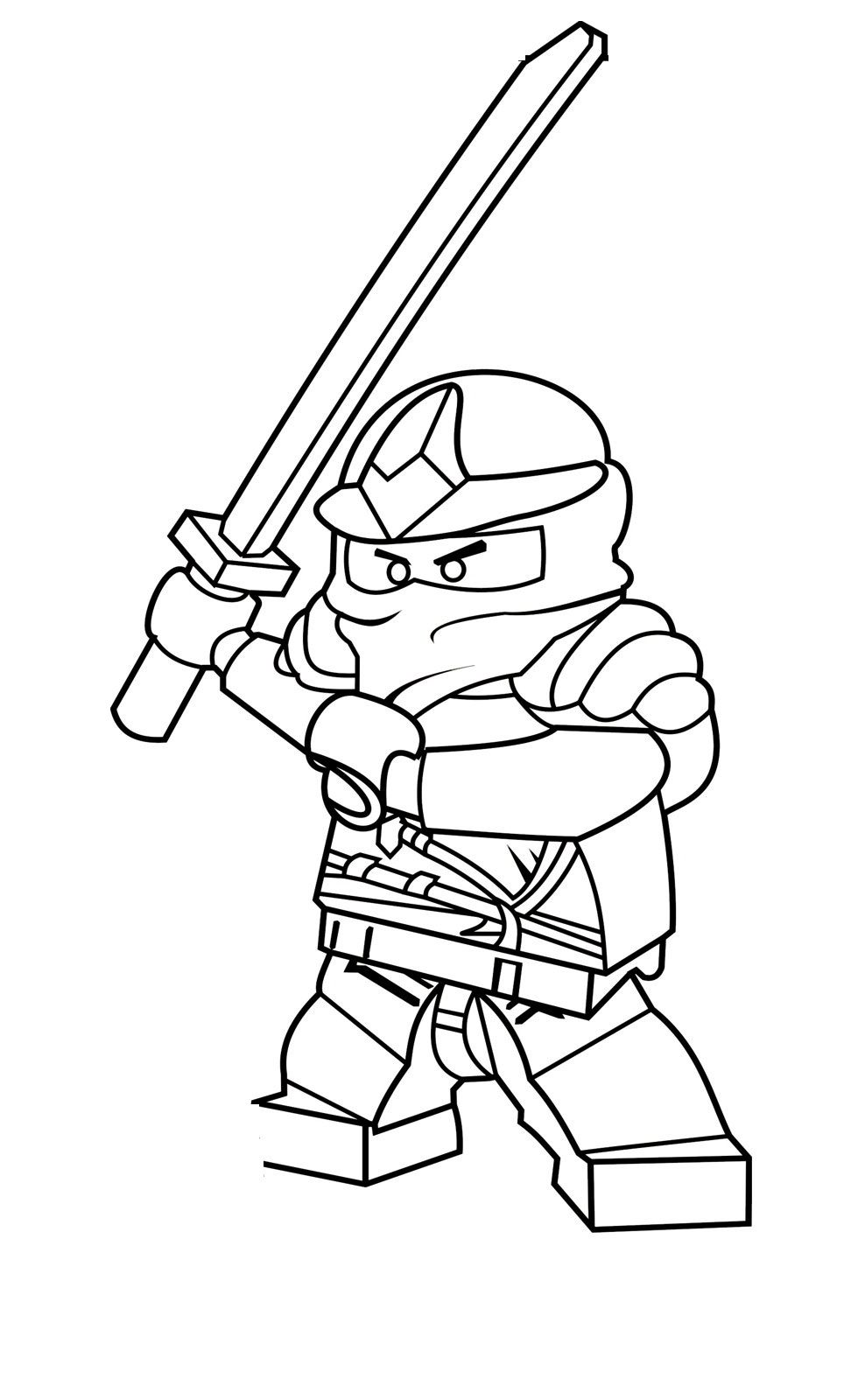 Free Printable Ninjago Coloring Pages For Kids | Colorear y Dibujo