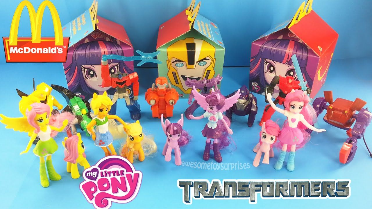 My Little Pony Toy Food : Mcdonalds happy meal toys my little pony mlp equestria