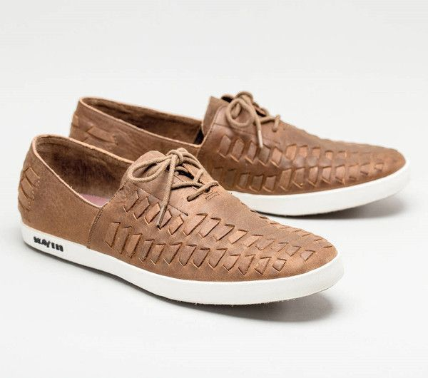 SeaVees Huarache Hand Woven Adobe Leather Shoes tan summer leather shoes boat shoes