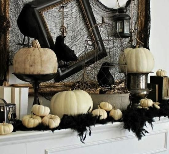 21 Black and White Decorating Ideas for Halloween Party in Vintage - vintage halloween decorating ideas