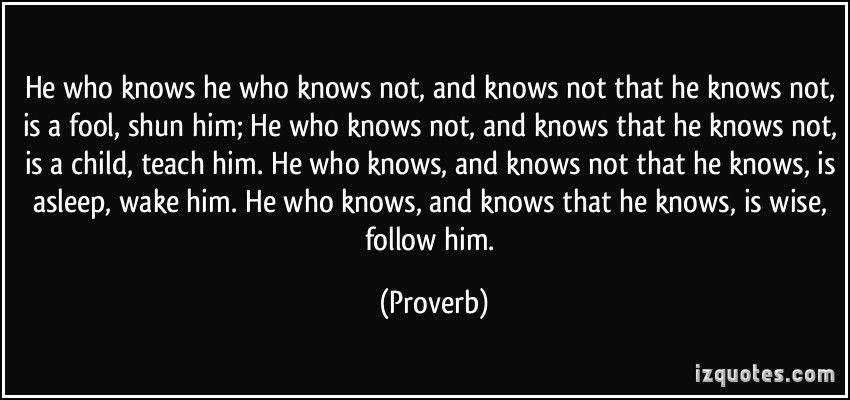 he who knows not