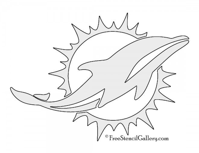 Nfl Miami Dolphins Stencil Dolphin Coloring Pages Miami