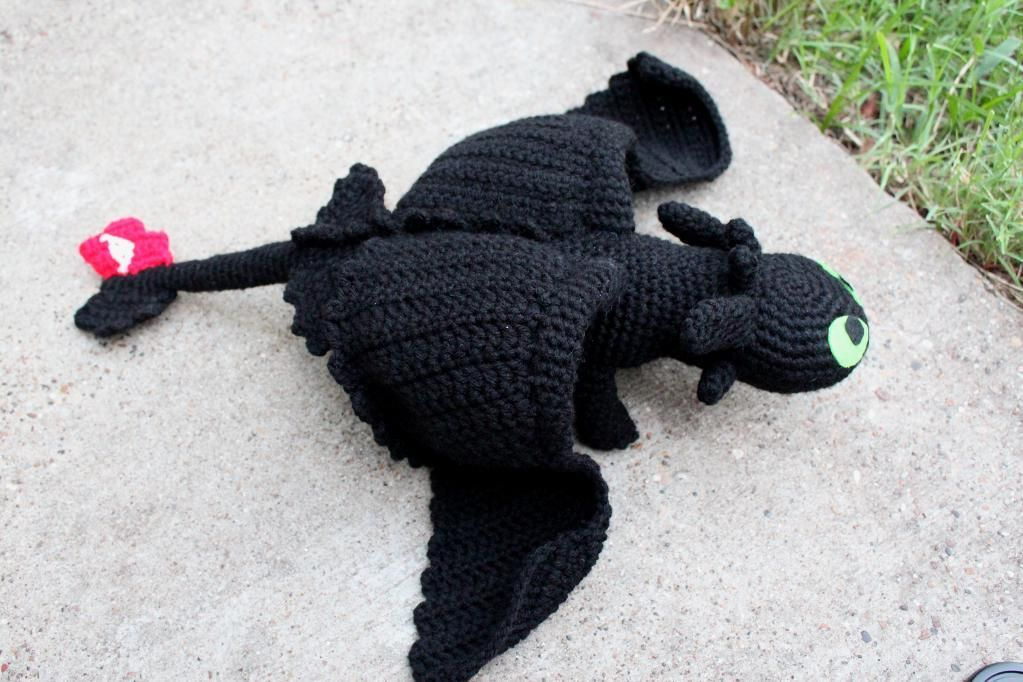 Free Crochet Toothless Pattern from How to Train Your Dragon ...