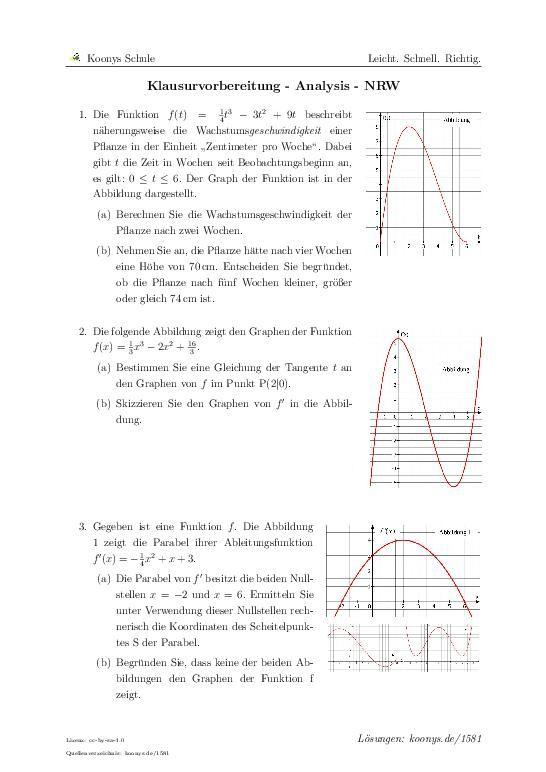 Zentrale klausur nrw mathe 2018 lösungen