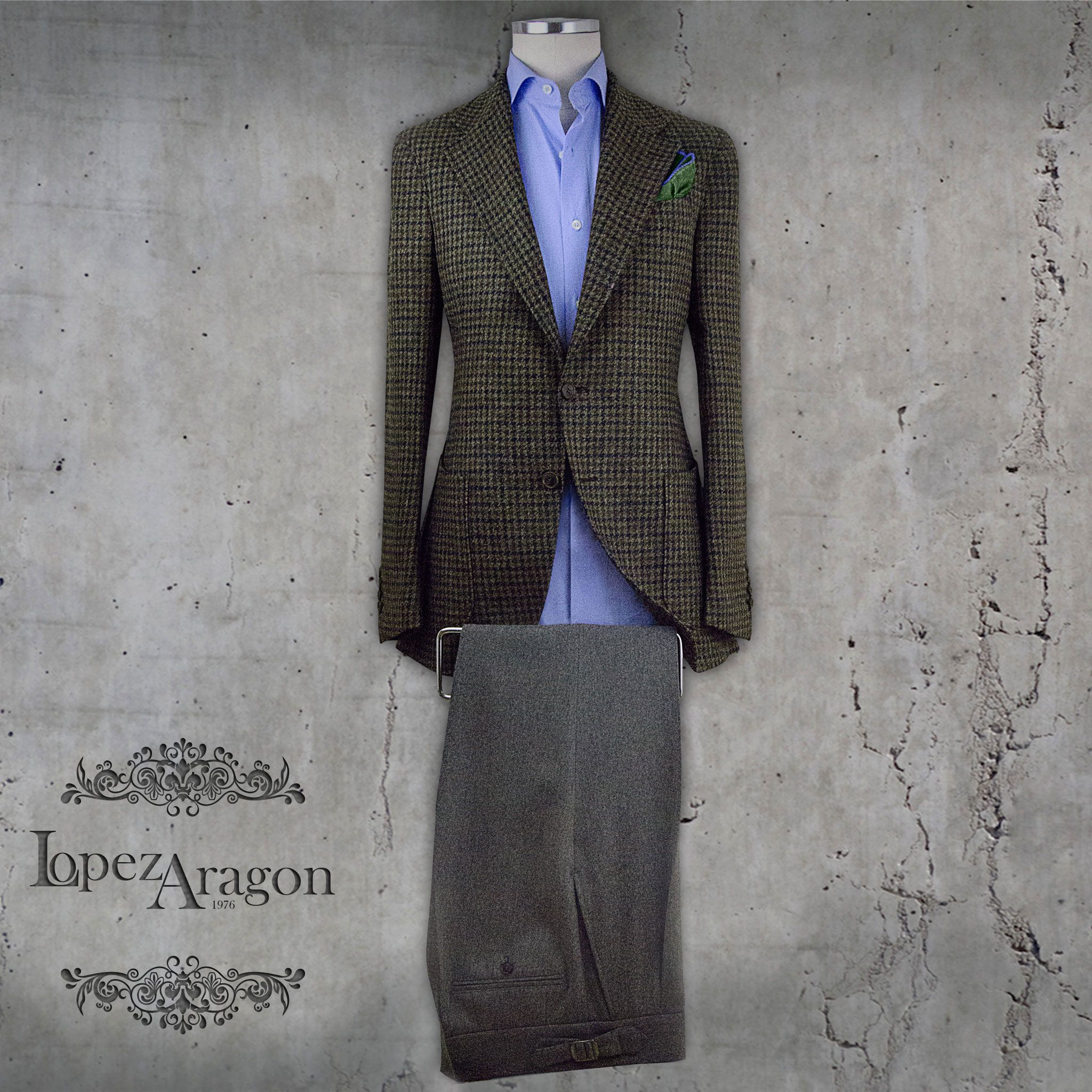 Modelo chaqueta Pantalón. López Aragón.