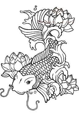 Koi Fish Tattoos Adult ColoringColoring BookColouringCool