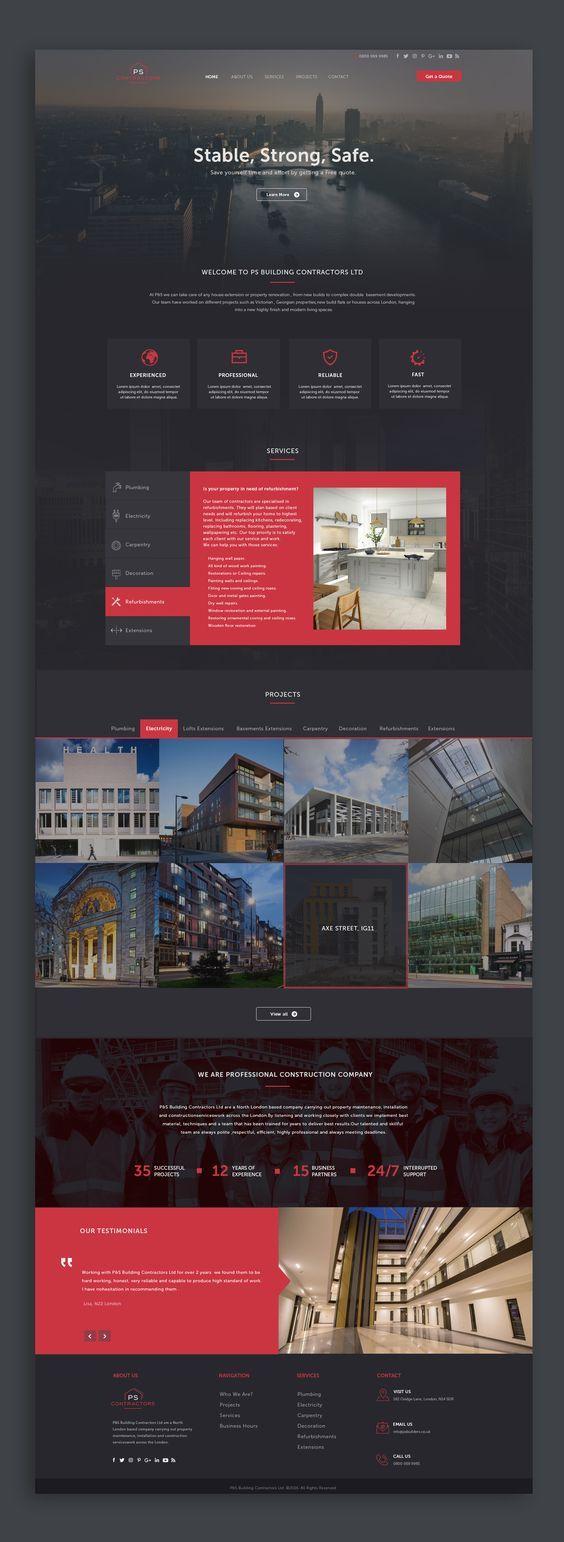20 web design inspiration for the modern website template