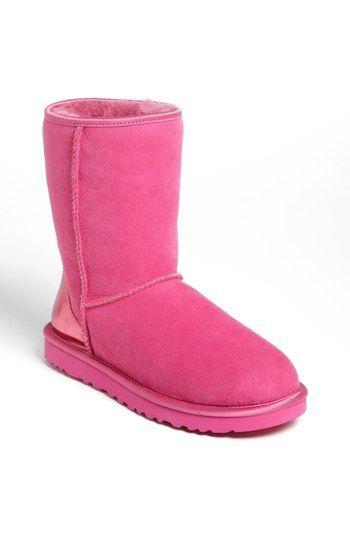 UGG® Australia 'Classic Short' Metallic Patent Boot (Women) available at #
