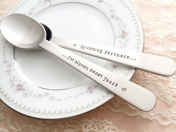 Steel Gifts 11th Wedding Anniversary: Anniversary Gift: 11 Years ... Stainless Steel Spoons For