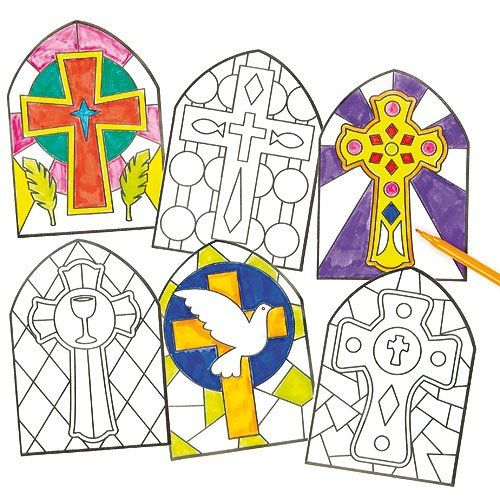 Colour Your Own Stained Glass Window Decorations With These Great Kits Great Kids Craft For School Or A Sunday School Crafts Bible Crafts Bible School Crafts