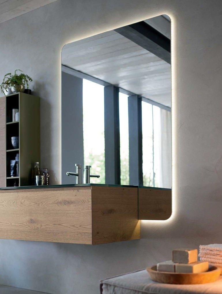 Oak Bathroom Cabinet / Vanity Unit LA FENICE   COMPOSITION 12   Arcom
