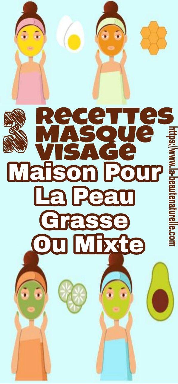 3 Recettes Masque Visage Maison Pour La Peau Grasse Ou Mixte Masque Peau Grasse Homemade Face Mask Recipes Homemade Face Masks Face Mask Recipe