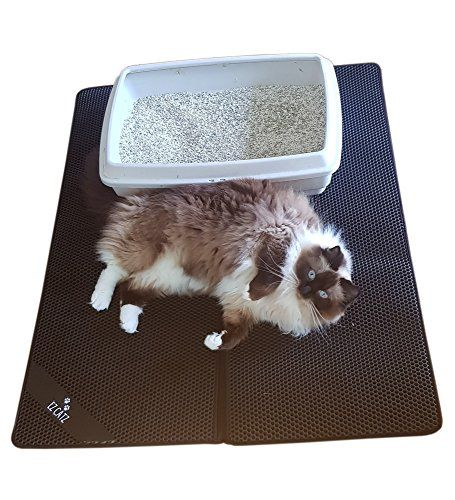 Giant Large Size 39 X 31 Xxl Cat Litter Trapper Mat With Unique Inner Seam For Extra Scatter Control Large Holes Durabl Cat Paws Litter Box Cats