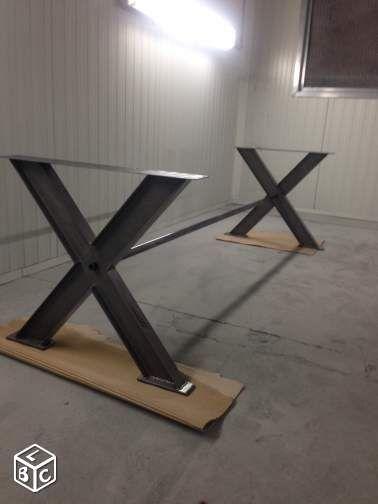 pied pietement table industriel achat la marmouti re. Black Bedroom Furniture Sets. Home Design Ideas