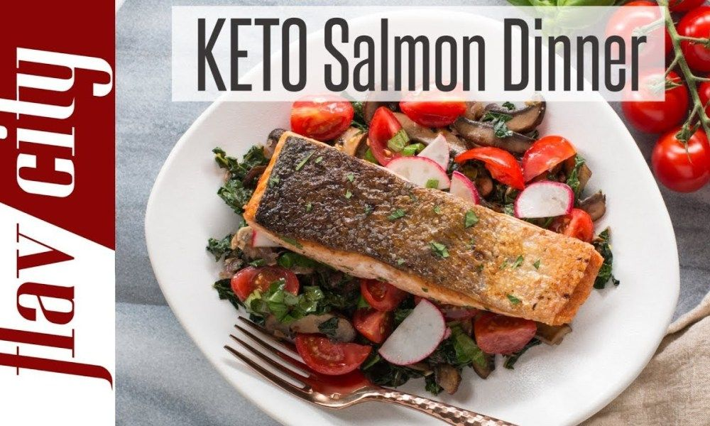 Quick & Easy Keto Diet Recipe For Weight Loss – Low Carb Salmon Recipe images