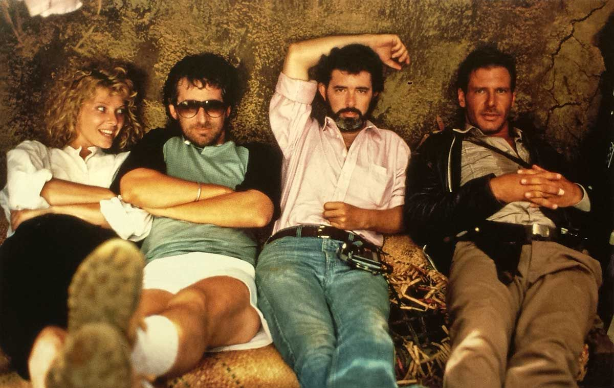 Kate Capshaw, Steven Spielberg, George Lucas and Harrison Ford