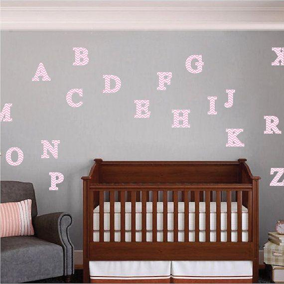 Chevron Alphabet Wall Decals Alphabet Wall Sticker Alphabet Room - Vinyl wall decals alphabet