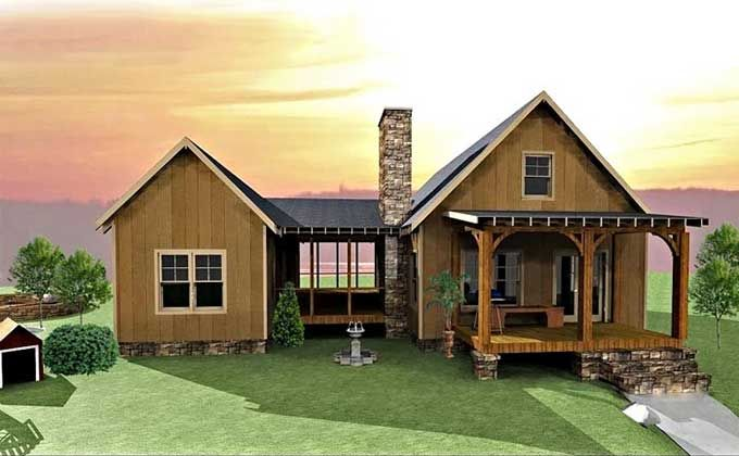 Dog trot house plan porch building and room for Small house plans texas