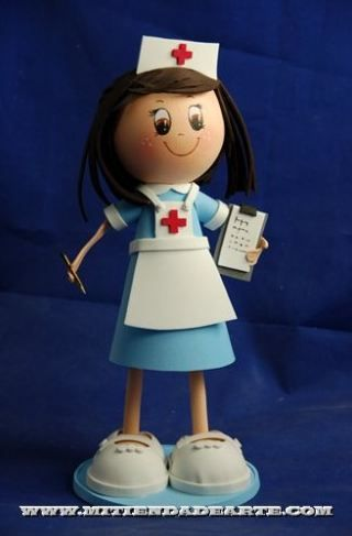 Worksheet. Kit Fofucha Enfermera 1796  FOFUCHAS foamy dolls  Pinterest