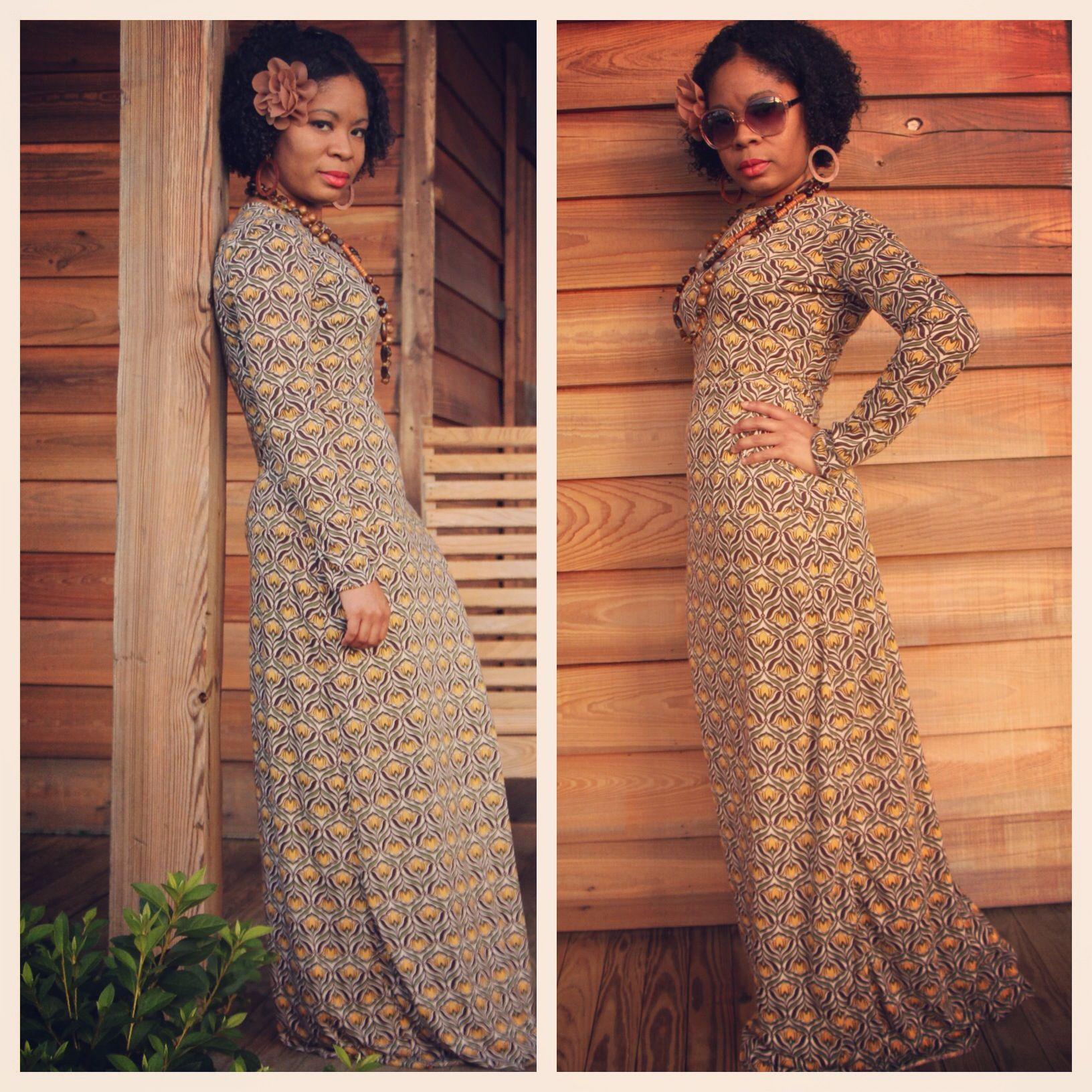 My long sleeved tshirt maxi dress completed how to sew a long