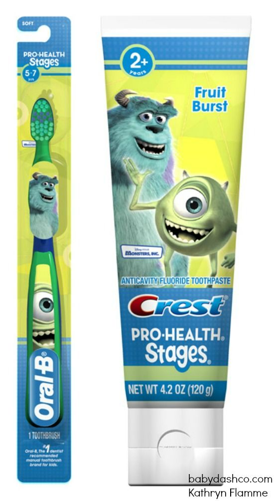 Monsters Inc Toothpaste And Toothbrush Kids Toothpaste Oral B Kids Supplies