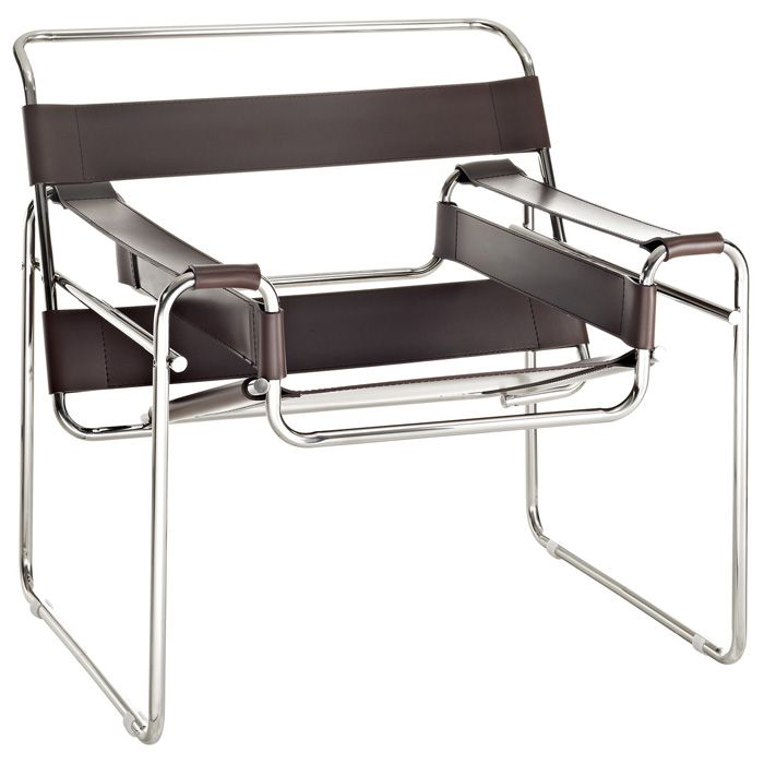 Wassily Chair By Marcel Breuer Dcg Stores Wassily Chair Leather Lounge Chair Leather Accent Chair