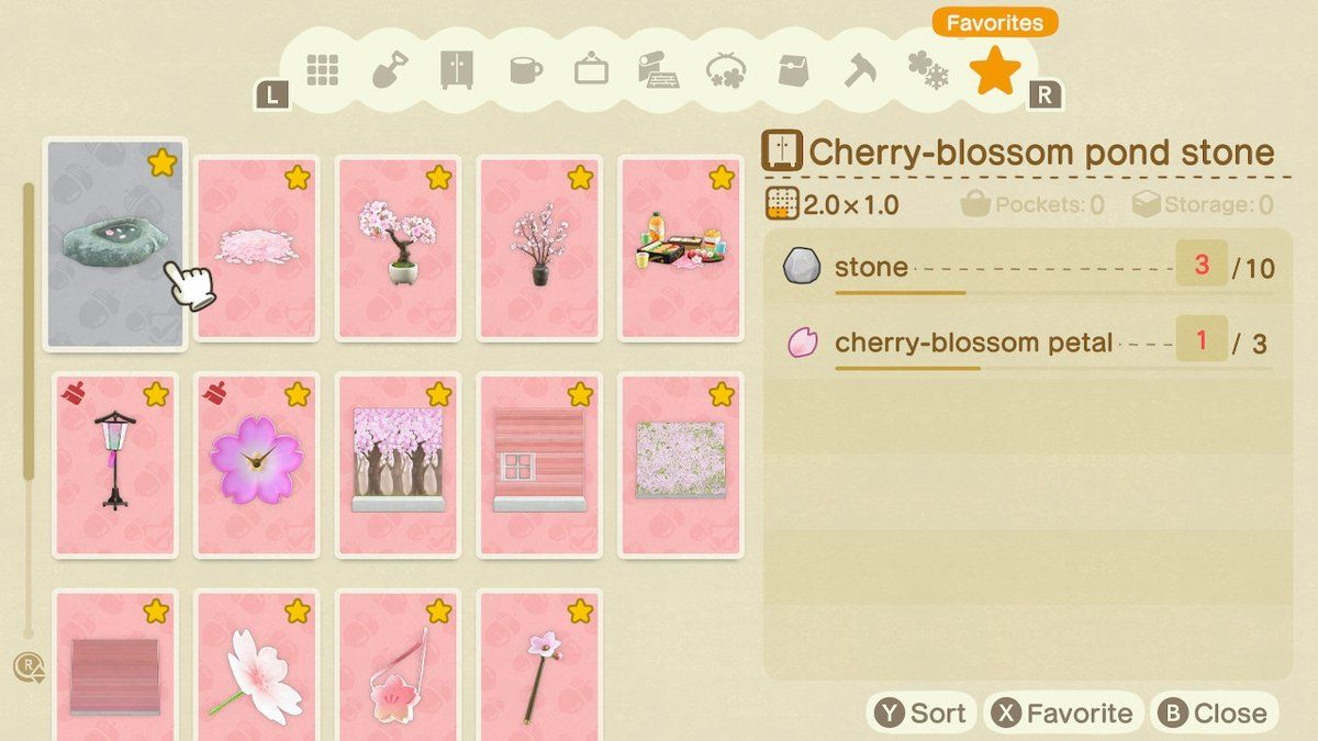 Stella On Twitter Animal Crossing Cherry Blossom Petals Diy Set